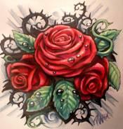 Роза с шипами татуировка